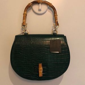 Forever21 Faux Snake Bamboo Purse